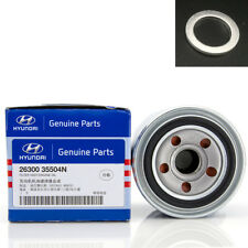 Genuine OEM Hyundai Kia Mobis Engine Oil Filter and Gasket 26300-35504 Free Ship