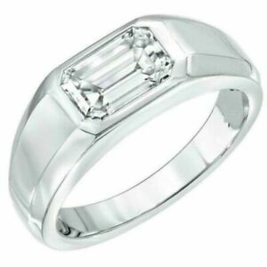2.6ct Emerald Cut Diamond Engagement Ring Solitaire Promise 14k SOLID White Gold