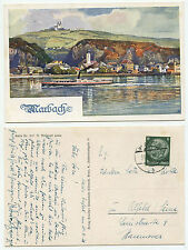 35690 - A. Reckziegel: Marbach - Künstlerkarte, gelaufen Maria Taferl 31.7.1938