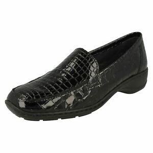Ladies Rieker Stylish Croc Print Detailed Shoes '583A0'