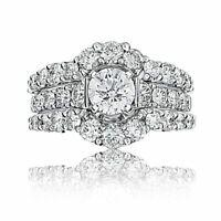 2.00 Ct Round Diamond Enhancer Wrap Engagement Wedding Ring 10k White Gold Over
