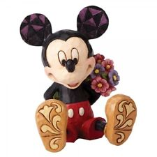 Disney Traditions Mickey Mouse With Flowers Mini Figurine 4054284 New & Boxed