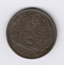 BANK OF MONTREAL 1837 Half Penny Token - LC-8D1 Br#522