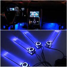 4in1 12V Car Charge Blue LED Interior Floor Light Kit Atmosphere Decoration Lamp