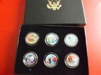 * USA 6 x Quarter Dollar 2009 Coloriert  *  (Ki.4)