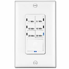 In-Wall Countdown Timer Switch 1-5-10-15-20-30 Minute Presets Enerlites HET06A