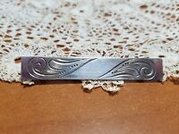 Vintage Beau Sterling Silver Bar Pin for Monogram