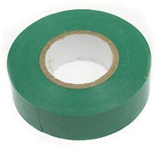 GREEN HIGH QUALITY ELECTRICAL PVC INSULATION TAPE 19mm x 20m FLAME RETARDANT