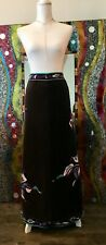 Emillo Pucci Vintage Women's Velet Long Skirt Free Shipping