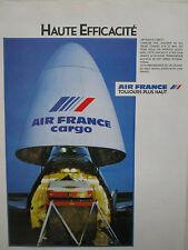 12/1983 PUB AIR FRANCE CARGO BOEING 747 FRET AERIEN FRACHT ORIGINAL FRENCH AD
