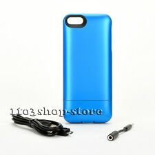 Mophie Juice Pack Helium 1500mha Battery Hard Case for iPhone 5 5s Se Blue Used