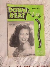 Vintage Down Beat Magazine Monica Lewis April 1, 1945