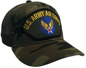 US Army Air Corps Hat Camo MESH BACK Ball Cap Air Force WW 2 WWII