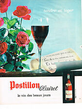 PUBLICITE ADVERTISING  1963   POSTILLON CLAIRET   vin