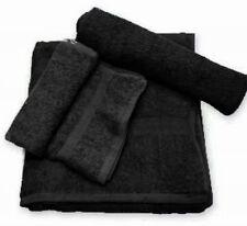 24 (2 DOZEN) NEW BLACK SALON HAND TOWELS DOBBY BORDER RINGSPUN COTTON 16X27 3#
