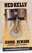 79013 NED KELLY STUFF COLLECTABLE PIN BADGE 13 of 20 HANGING NOOSE SUCH IS LIFE