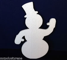 15 POLYSTYRENE SNOWMAN SMALL DESIGN 300MM HEIGHT 10MM THICK
