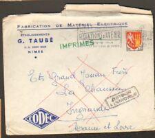 """NIMES (30) MATERIEL ELECTRIQUE """"G. TAUBE"""" en 1964"""