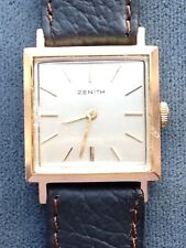 ZENITH ca 1970's Rose Gold 17J mechanical movement. Serviced 100% money back