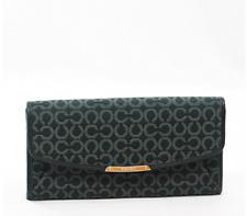 NWT Coach 49611 Madison Needlepoint Op Art Slim Envelope Wallet Black