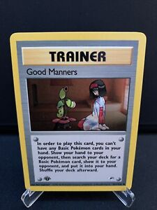Good Manners 111/132 Gym Heroes 1st Edition NM Pokémon