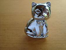 Möbelknopf CAT  Chrom-glänzend Motiv Katze Möbelgriff Möbelgriffe Möbelknauf