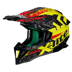 Casque Cross X-LITE X-502 Nac-Nac - 12 LED Yellow TAILLE S