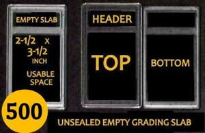 500 EMPTY PROFESSIONAL Unsealed Graded Card Slabs HOLDER for GRADING NEW