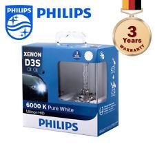 100% Authentic Philips Ultinon Xenon Headlight Bulb D3S 6000K 3-Year Warranty