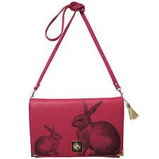 DISASTER Designs Heritage & Harlequin Coniglio rosa Bunny clutch borsetta a tracolla