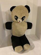 Vintage Black and White Bear with Rubber Nose and Googly Eyes, 24� Tall, 1950-60
