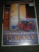 A THOUSAND DAYS IN TUSCANY MARLENA DE BLASI AUDIO BOOK 8 CASSETTES UNABRIDGED