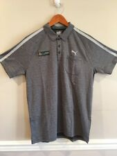 Mercedes AMG Petronas PUMA Mens Formula 1 Polo Shirt Gray Size MEDIUM