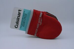 Cuisinart Mini Oven Gloves Mitts In Red Small Size With Heat Resistant Silicone