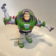"Buzz Lightyear Toy Story 12"" Figure Blue Chrome Utility Belt Thinkway Toys RARE"