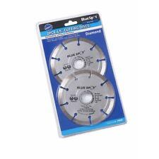 "Bluespot 2 Pce 115mm (4.5"") Segmented Diamond Dry Cutting Disc - 4 1 Blue Spot"