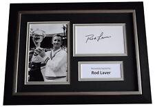 More details for rod laver signed a4 framed autograph photo display tennis sport aftal coa