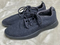 Allbirds Wool Runners Solid Black Merino Wool Lace Up Shoes Mens Sz 8 EUC!