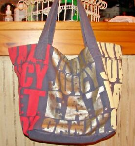 """JUICY COUTURE SUPER LARGE TOTE BAG """"JUICY EAT CANDY"""" AMAZING TOTE"""