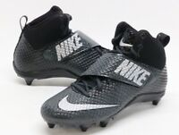 Nike Mens Lunarbeast Pro D Mid Football Cleats Black Gray Size 11.5 New