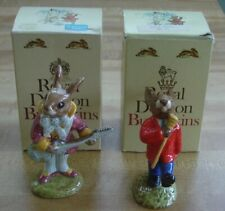 Royal Doulton Bunnykins Mr. Bunnybeat Db 16 & Drum Major Db 27 Figurines w/Boxes