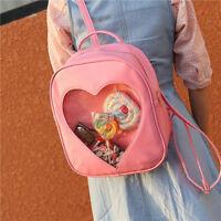 6 Colors CLEAR ita bag Transparent itabag Pin Display Backpack Kids school bags