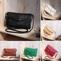 Womens Shoulder Bag Retro Handbag PU Leather Tote Cross Body Messenger Satchel