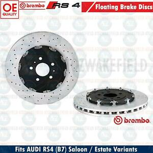 FOR AUDI RS4 B7 QUATTRO FRONT BREMBO FLOATING BRAKE DISCS 365mm PAIR