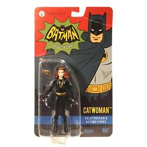 "CATWOMAN 3 3/4"" action figure from BATMAN 1966 TV Series by Funko MOC see photos"