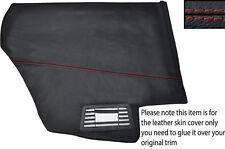 RED Stitch 2x Sportello Posteriore Pannello Carta Pelle copre gli accoppiamenti PEUGEOT 205 CJ Cabrio