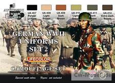LIFECOLOR CS05 German Uniforms  WW II Set 2 (12.84 Euro pro 100 ml)