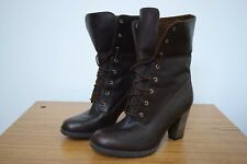 TIMBERLAND WOMEN LEATHER BOOTS SIZE 8.5 BROWN