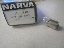 Nos Narva Spherical Lamp R5W 12v 5W Ba15s Light Bulb 17171 44346 Qty 1