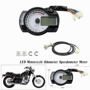 7 Color LED Motorcycle Odometer Speedometer Meter Digital Gauge Tachometer